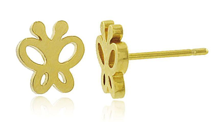 Brinco Borboleta Mini Dourado Duquesa Semi joia