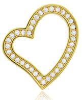 Brinco Coração Cravejado Dourado Duquesa Semi joias
