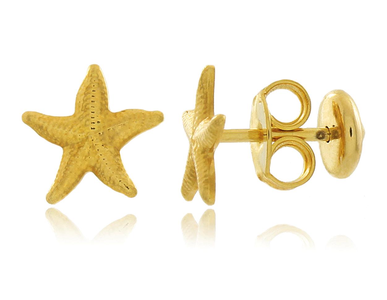 Brinco Infantil Estrela do Mar Dourado Duquesa Semi joia