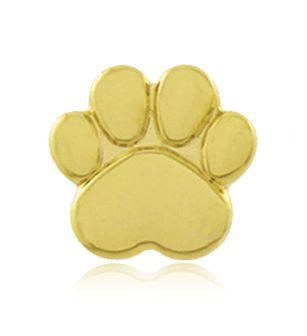 Brinco Pata Pet Cachorro Mini Dourado Duquesa Semi joias
