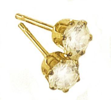 Brinco Ponto Luz P Zircônia Dourado Duquesa Semi joias