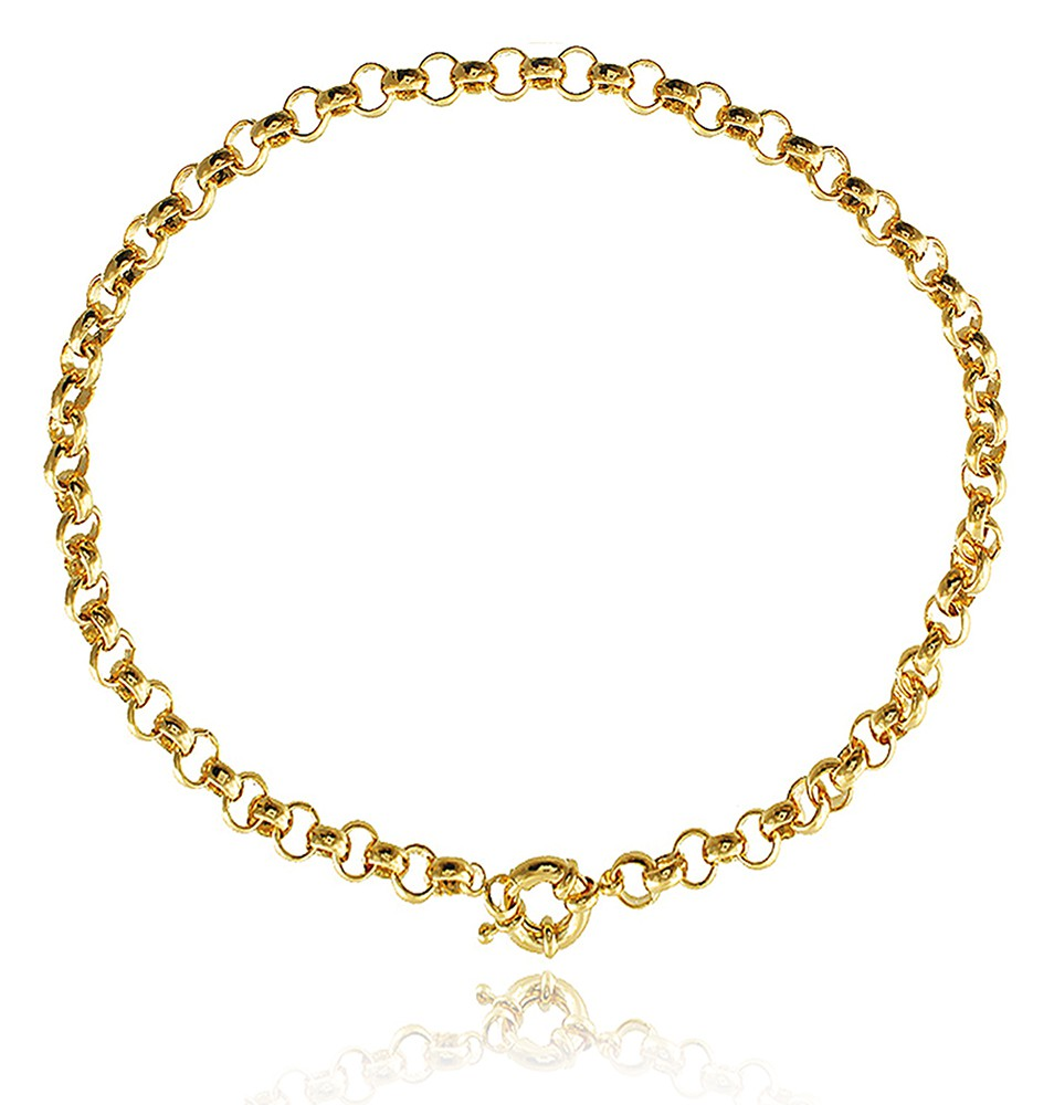 Colar Corrente Choker Elos Cartier Dourado Duquesa Semi joia