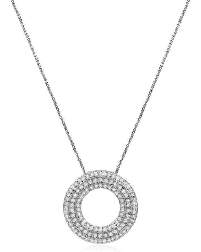 Colar Círculo Luxo Cravejado Prateado Duquesa Semi joias