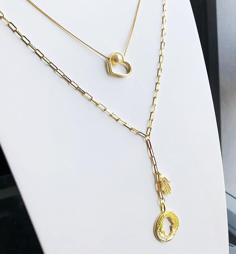 Colar Pingente Coração Pérola Dourado Duquesa Semi joias