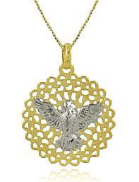 Colar Espírito Santo Dourado e Prateado Duquesa Semi joias