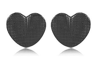 Conjunto Colar Brinco Coração Negro Duquesa Semi joias
