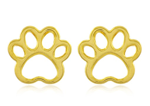 Conjunto Colar Brinco Pet Zircônia Dourado Duquesa Semi joia