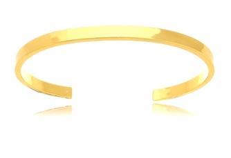 Pulseira Bracelete Folheado Ouro Dourado Duquesa Semi joias