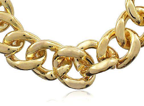 Pulseira Corrente Elo Folheada Dourada Duquesa Semi joias