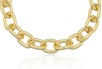 Pulseira Corrente Elos Pequenos Dourada Duquesa Semi joias