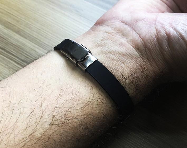 Pulseira Masculina Bracelete Cruz Rock Aço Silicone Duque