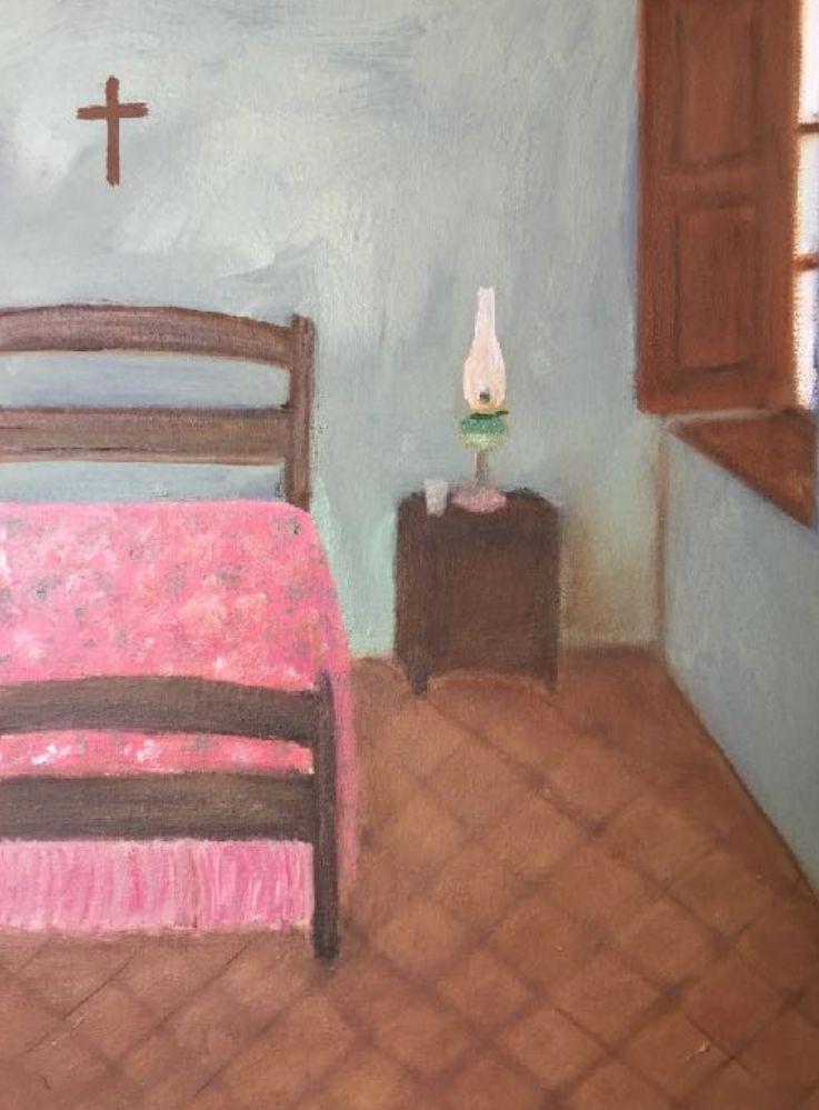 La cama con endredon, 2019
