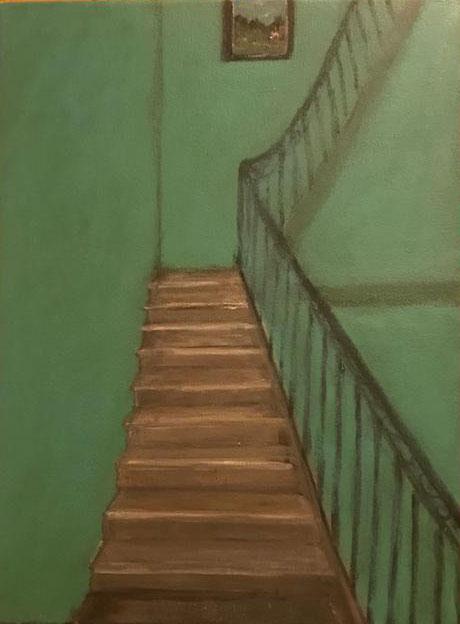 La escalera de madera