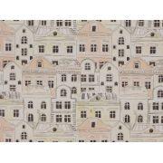 Papel De Parede Infantil Casas Aquarela Pastel Cinza E Bege - 390105