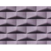 Papel De Parede Liso Cubos Com Sombra Cinza E Preto - 370202