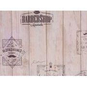 Papel De Parede Liso Madeira Nude Barbearia - 372101