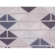 Papel De Parede Liso Tijolo Colorido Cinza E Chumbo - 371004