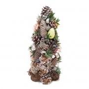 Topiara Decorativa de  Páscoa Pinhas e Rosas 33Cm