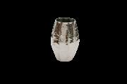 Vaso Metal Polido 36X16,5Cm