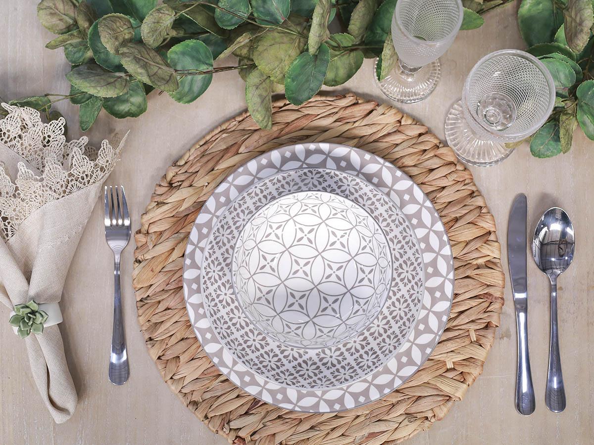 Aparelho de jantar Porcelana Stambul Fendi - 16 peças - 5522