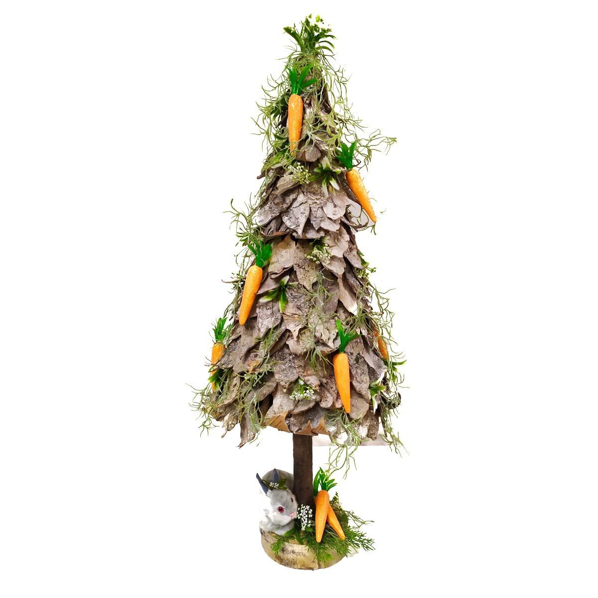 Arvore Decorativa Pascoa Osterbaum Cenouras 80 cm