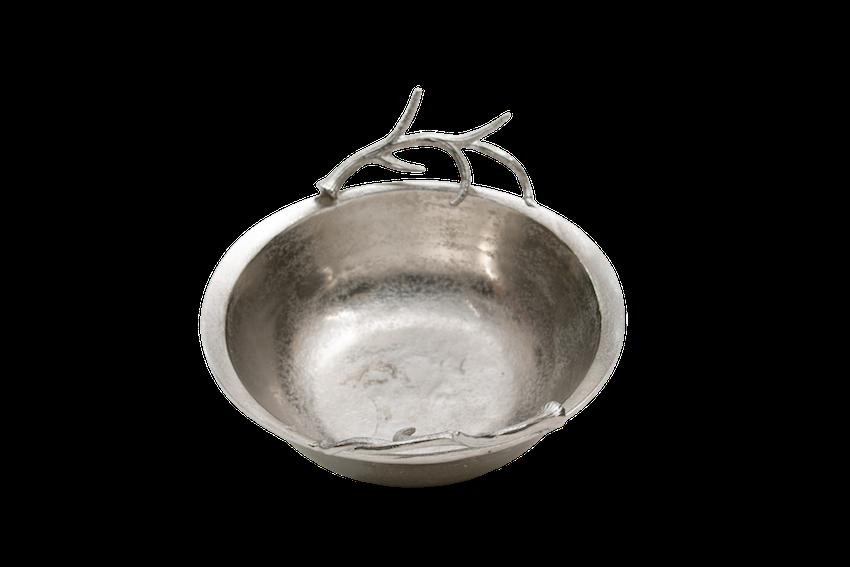 Bacia Metal Bruto Detalhe Galho 36X10,5Cm C MARY 19-3226