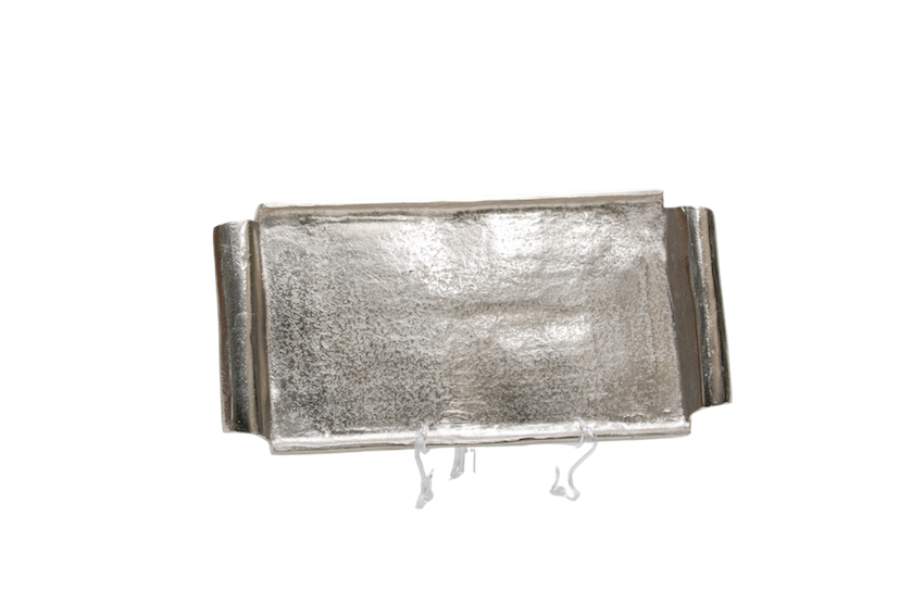 Bandeja Quadrada Metal Bruto 41Cmx19,5Cm