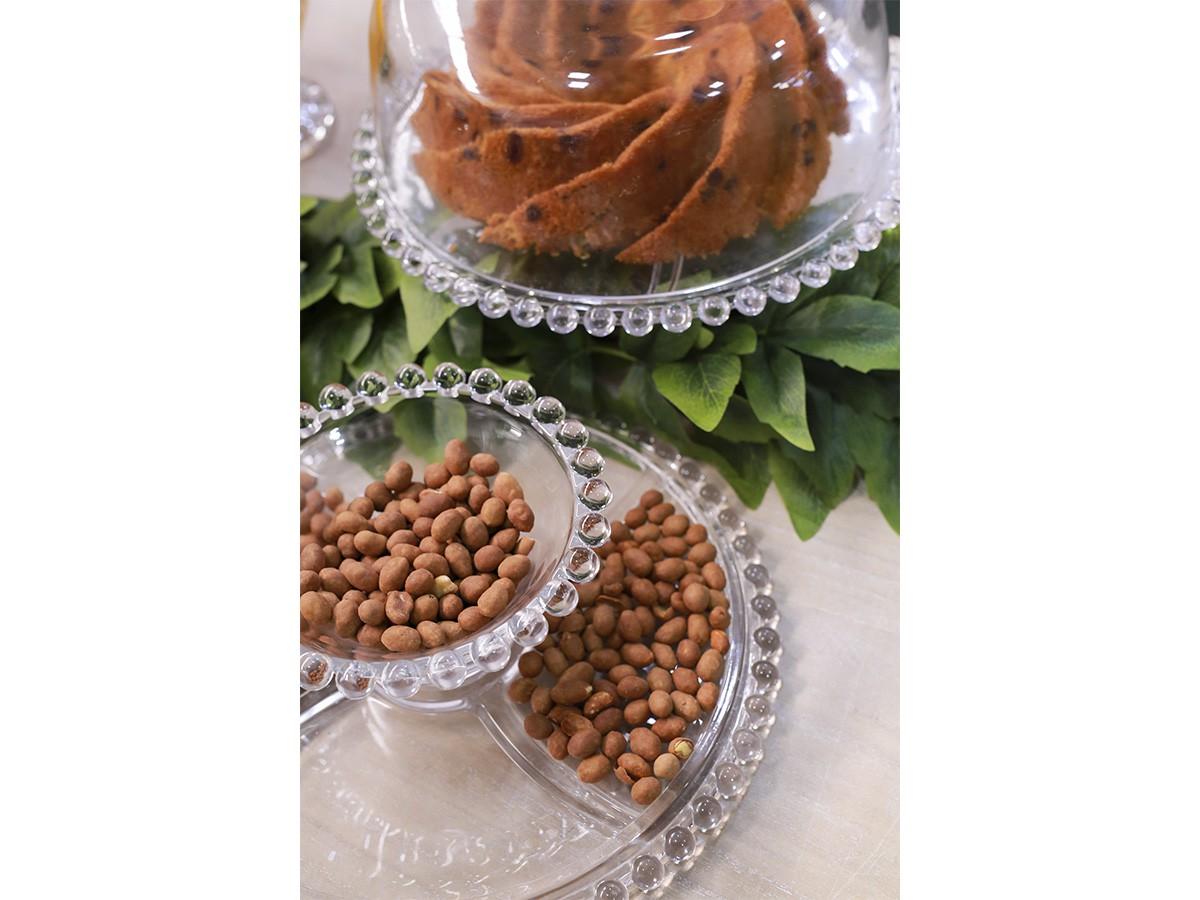 Boleira de Vidro Bolinha com Petisqueira - 31 x 25 cm - 6430