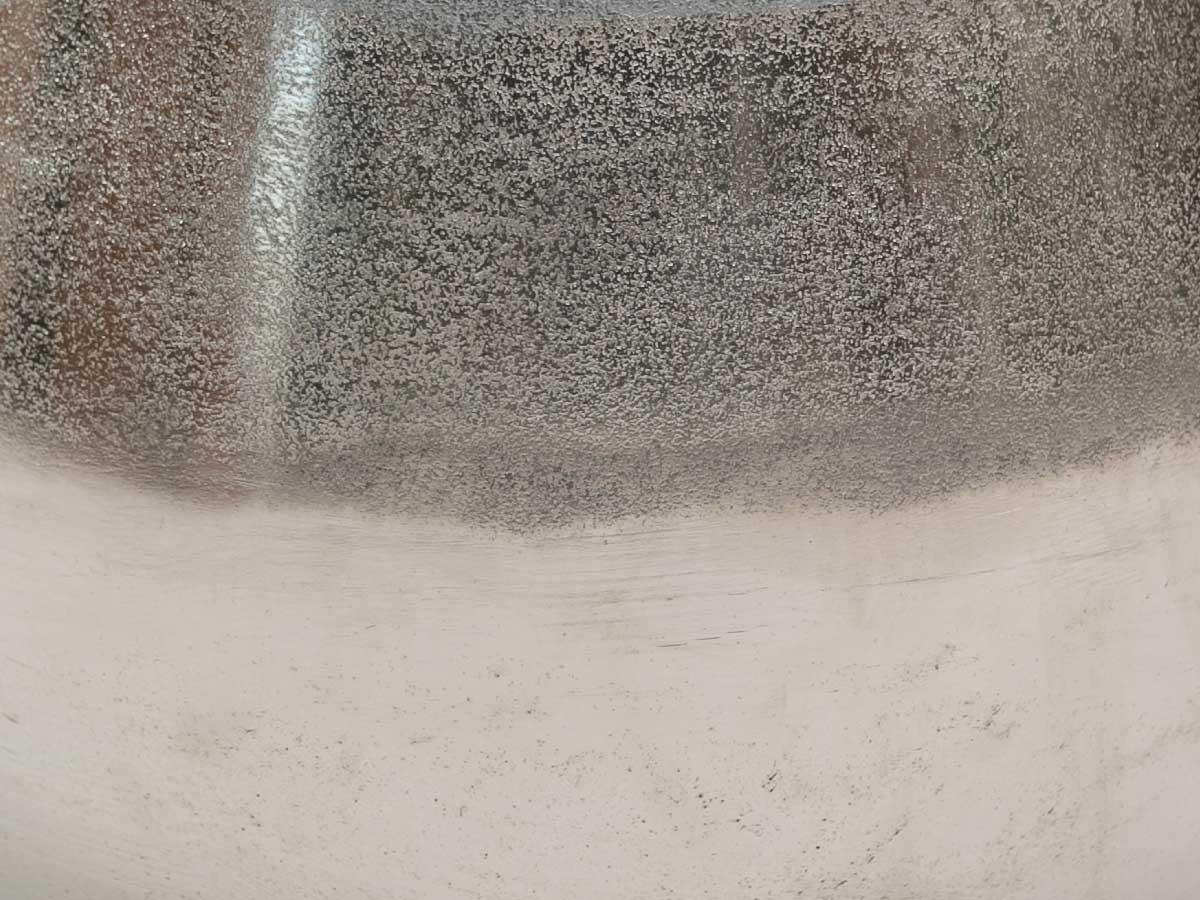 Cachepo Metal Bruto Redondo 20X25Cm
