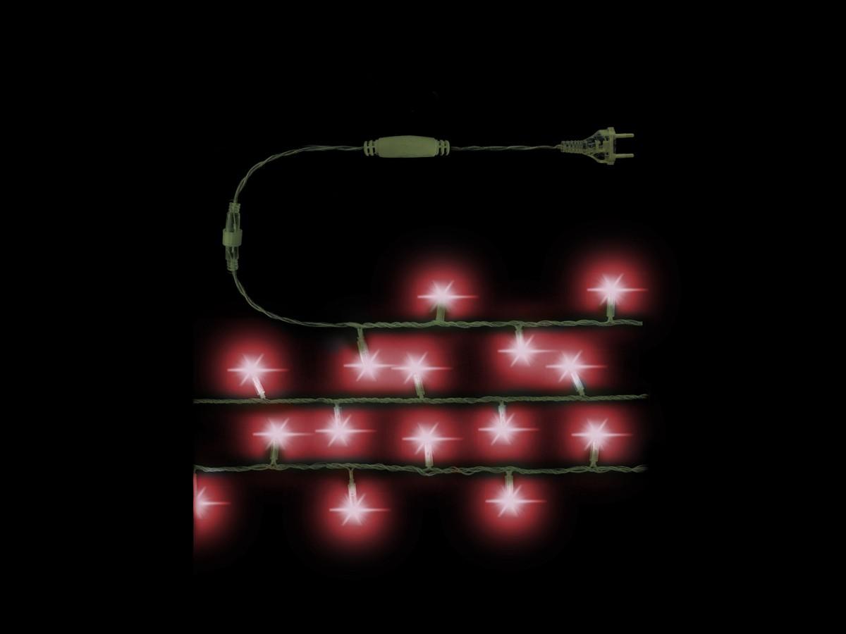CORDAO 22OV 100 LED DE 7MM VERMELHO FIO VERDE BLIN