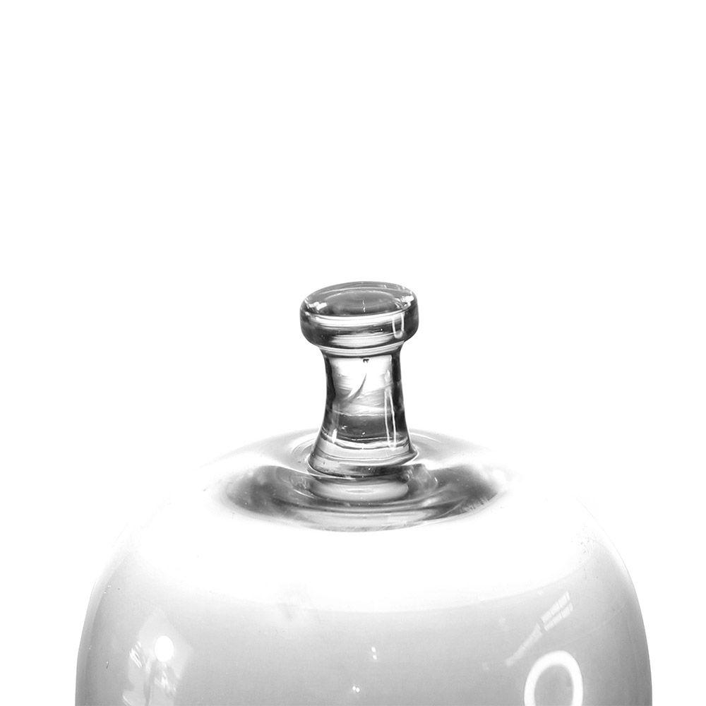 Cúpula de Vidro com Base em Madeira - 36 x 21 cm - 6387