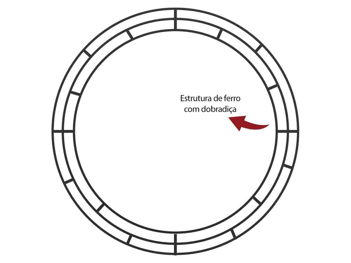 ESTRUTURA DE GUIRLANDA DE FERRO