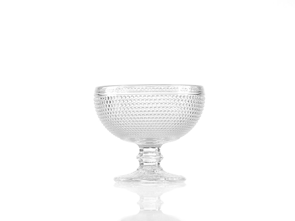 Jogo de Taças Bolinha para Sobremesa em Vidro Transparente com 06 Peças