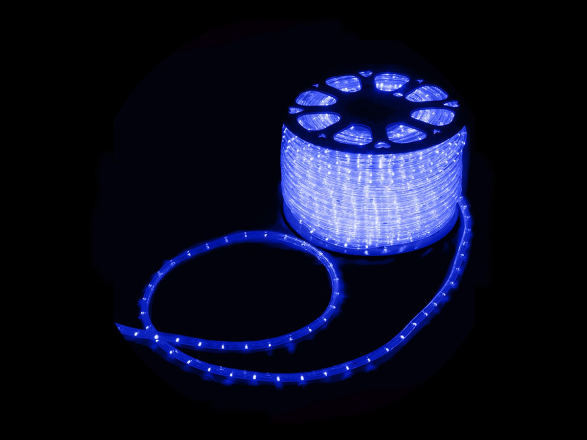 MANGUEIRA 13MM 36 LED 220V CORTE POR MT AZUL