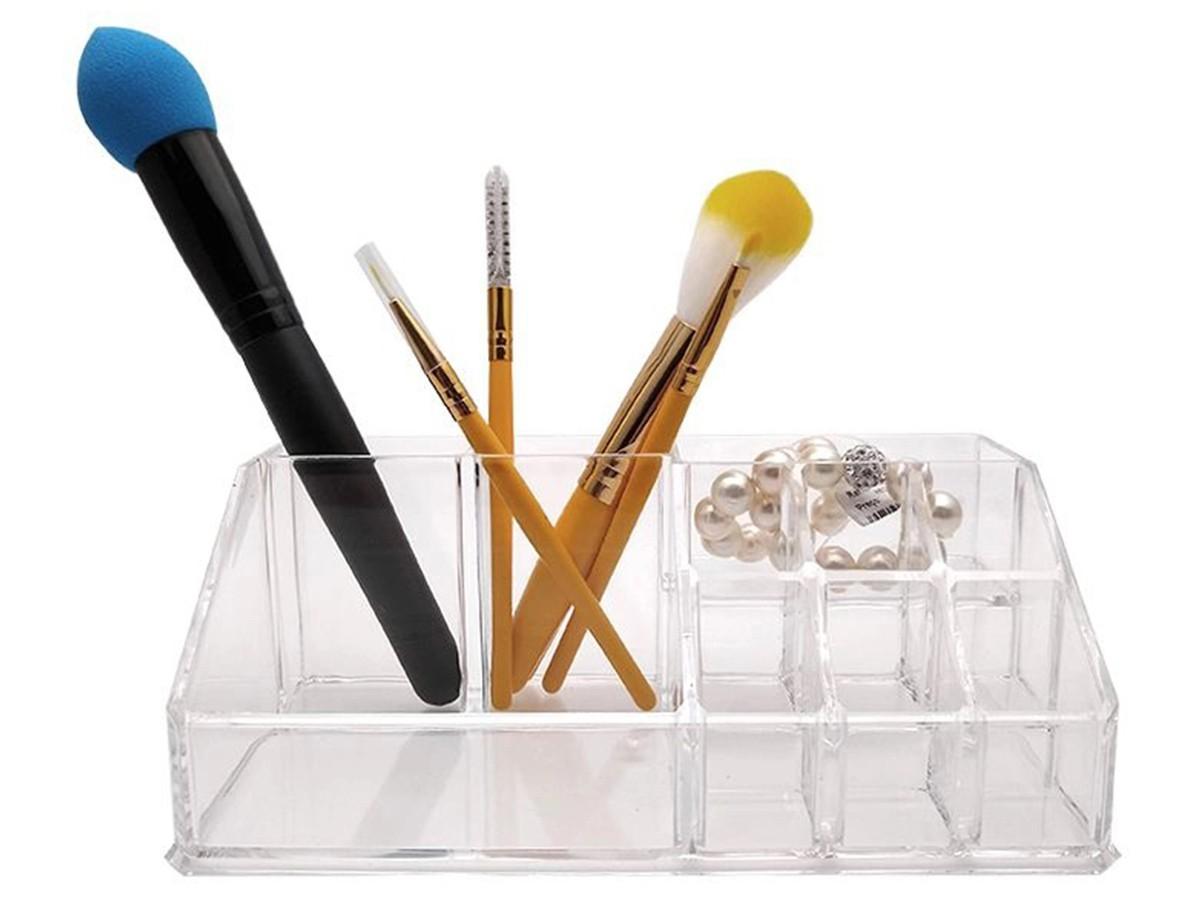 Organizador de cosméticos em acrílico - 17x9x7cm