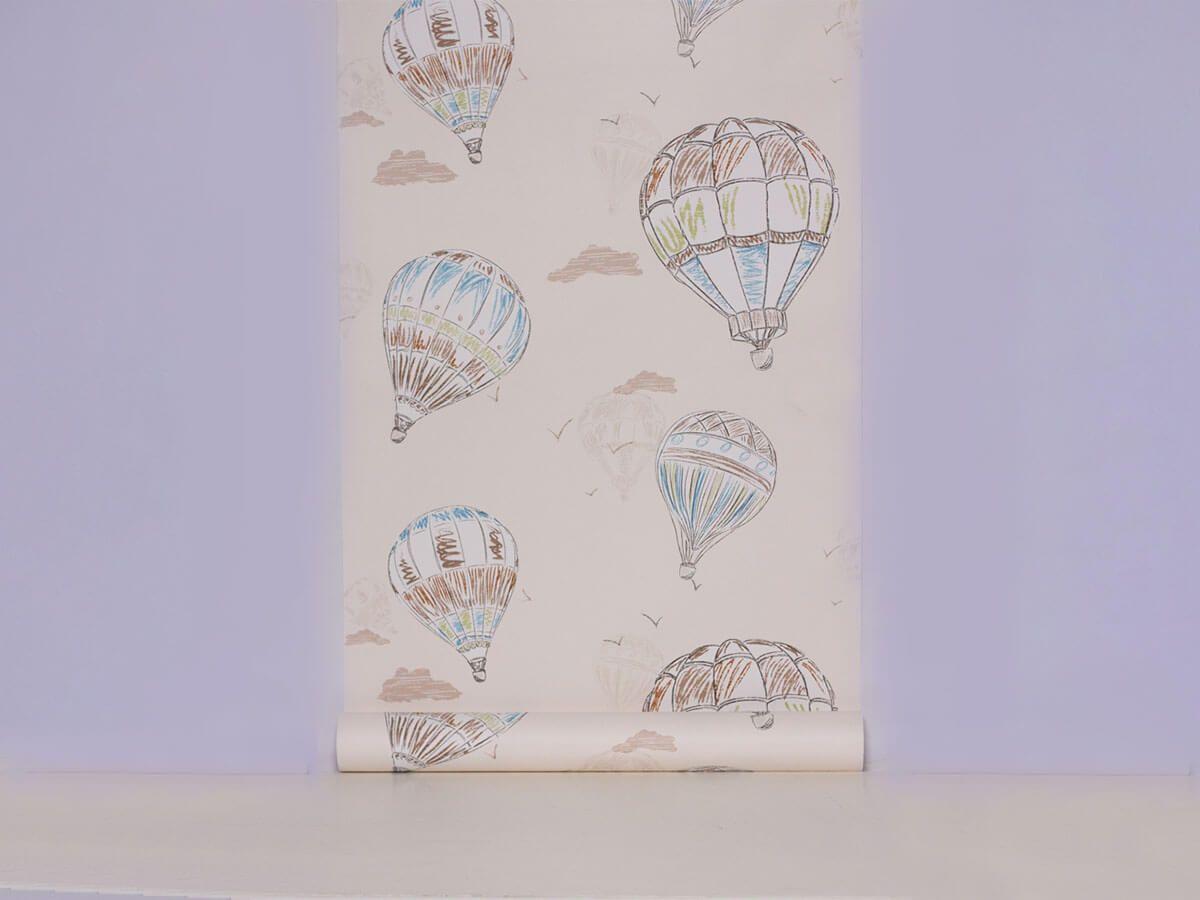 Papel De Parede Infantil Balões Bege Iced Coffe - 390701