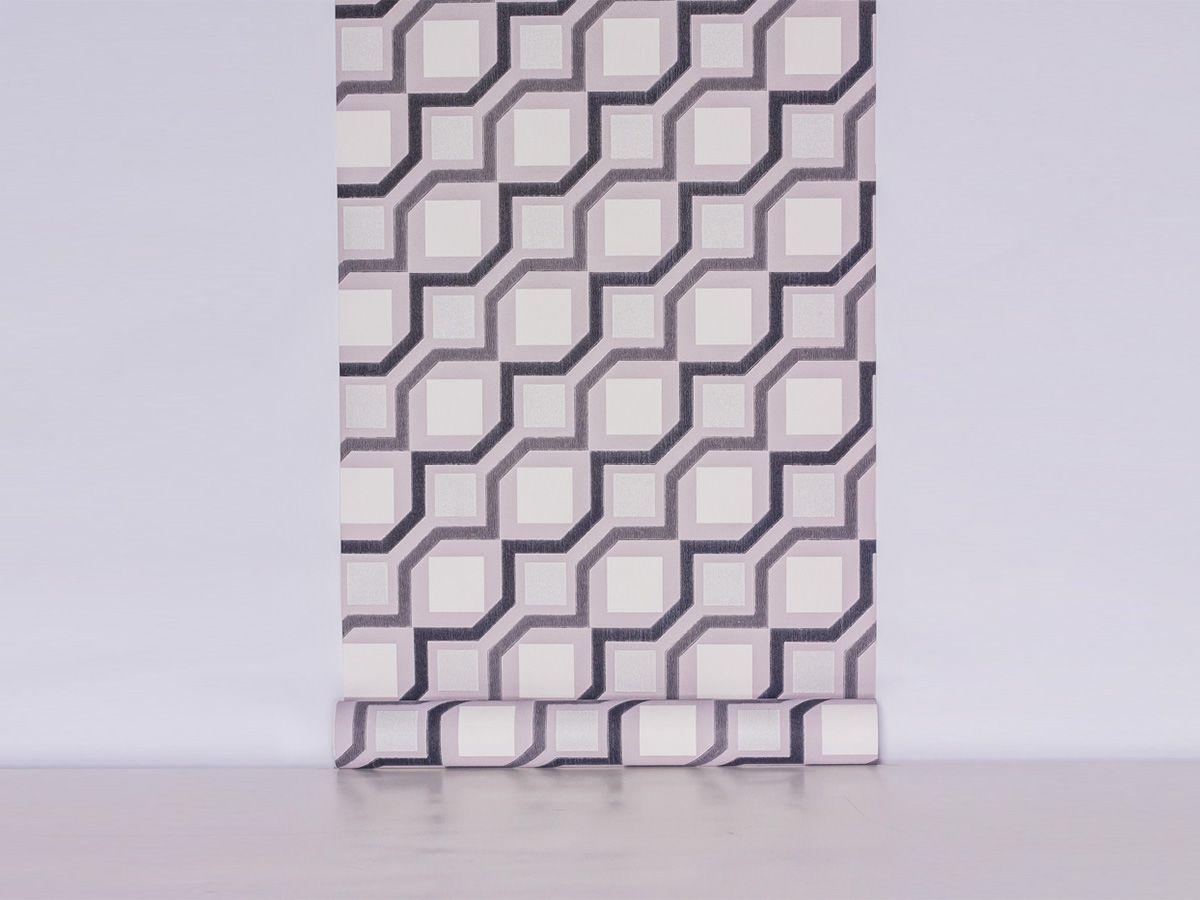 Papel De Parede Liso Abstrato Cinza Preto E Branco - 371205