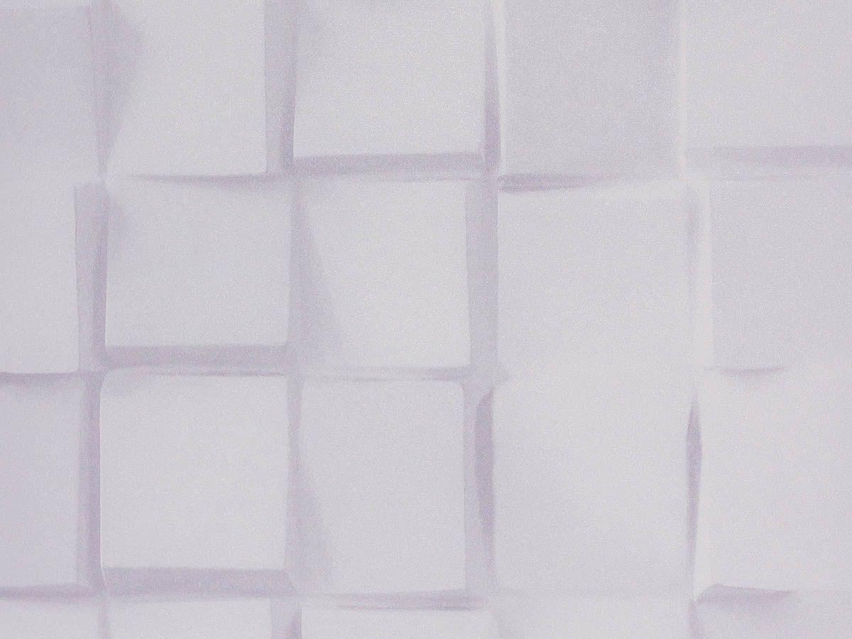 Papel De Parede Liso Blocos Com Sombra Branco E Cinza Claro - 370501