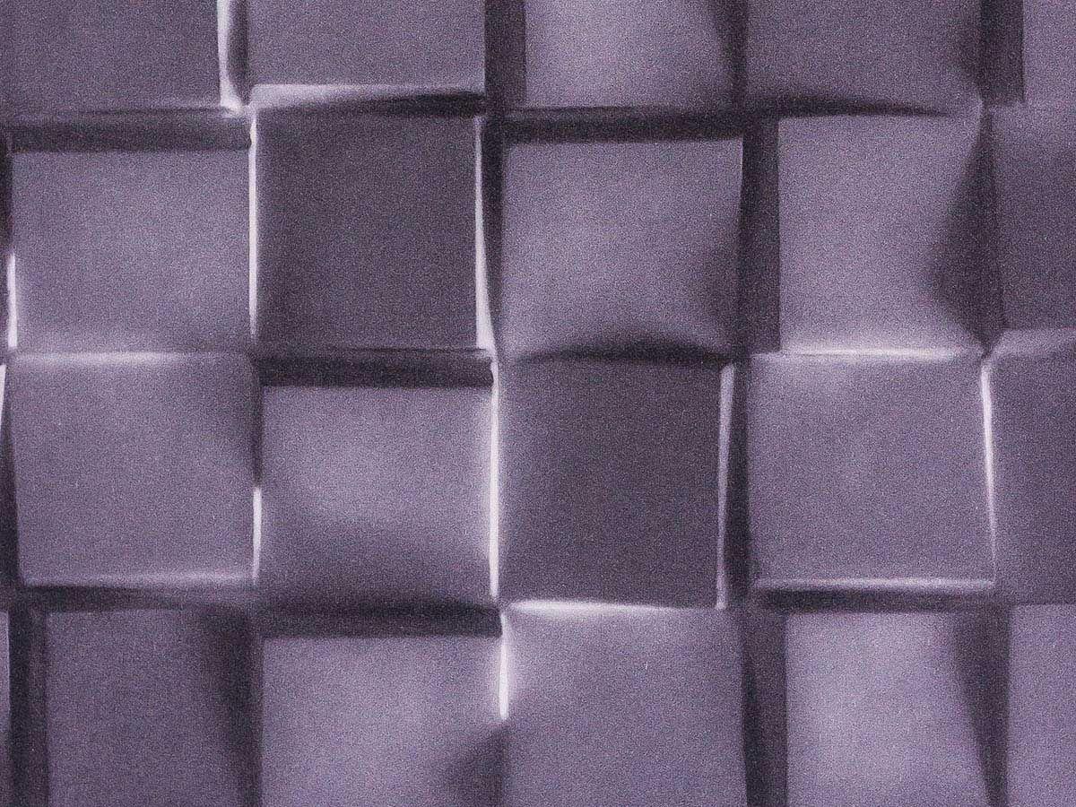 Papel De Parede Liso Blocos Com Sombra Chumbo E Preto - 370503