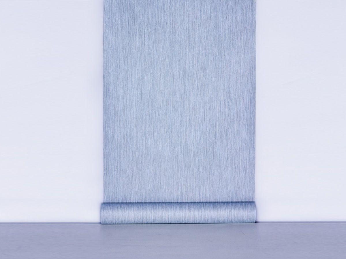 Papel De Parede Liso Escovado Azul Claro - 87090