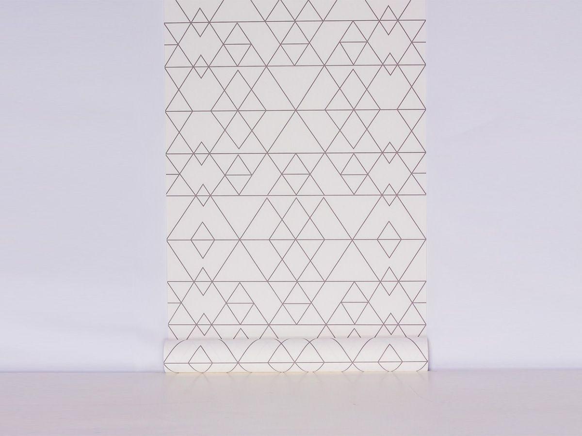 Papel De Parede Liso Ladrilho Bege Com Detalhes Azul 3D - 370802
