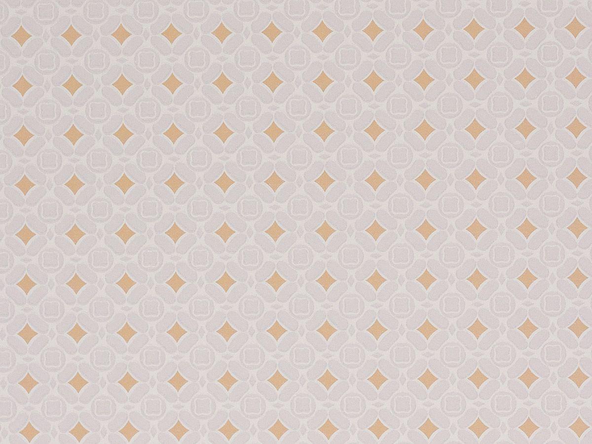 Papel De Parede Liso Ladrilhos Cinza Bege E Mostarda 3D - 1052