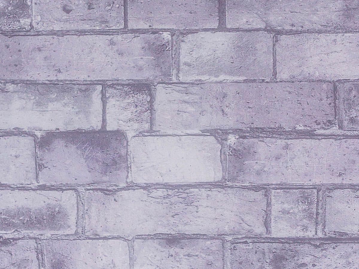 Papel De Parede Liso Tijolo Envelhecido Cinza - 370903