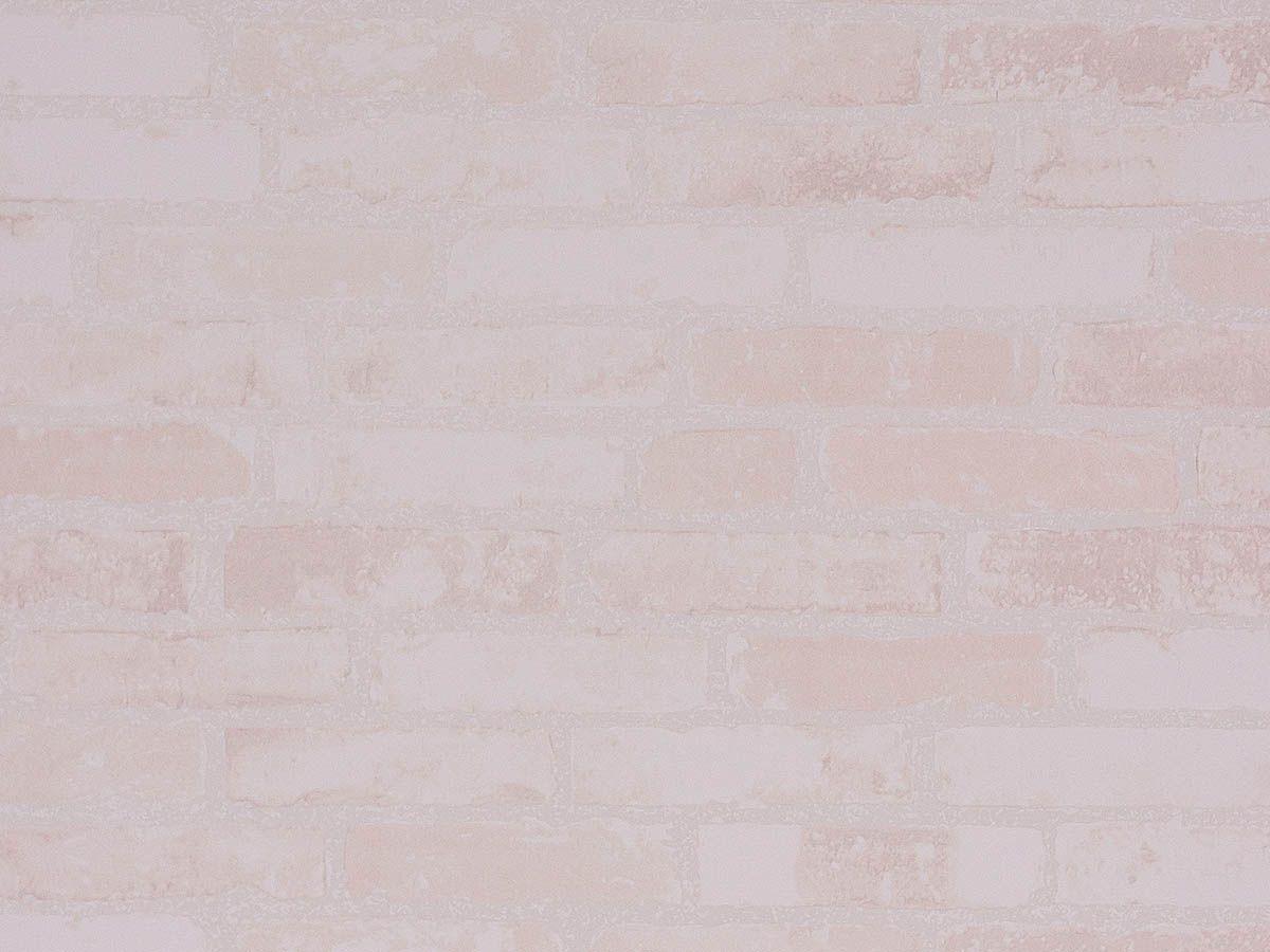 Papel De Parede Liso Tijolo Nude - 371501