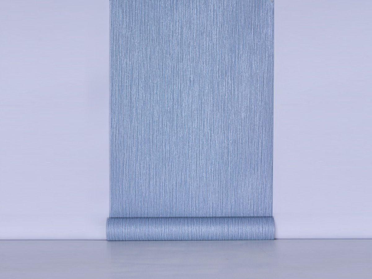 Papel De Parede Texturizado Escovado Azul Acinzentado - 87130