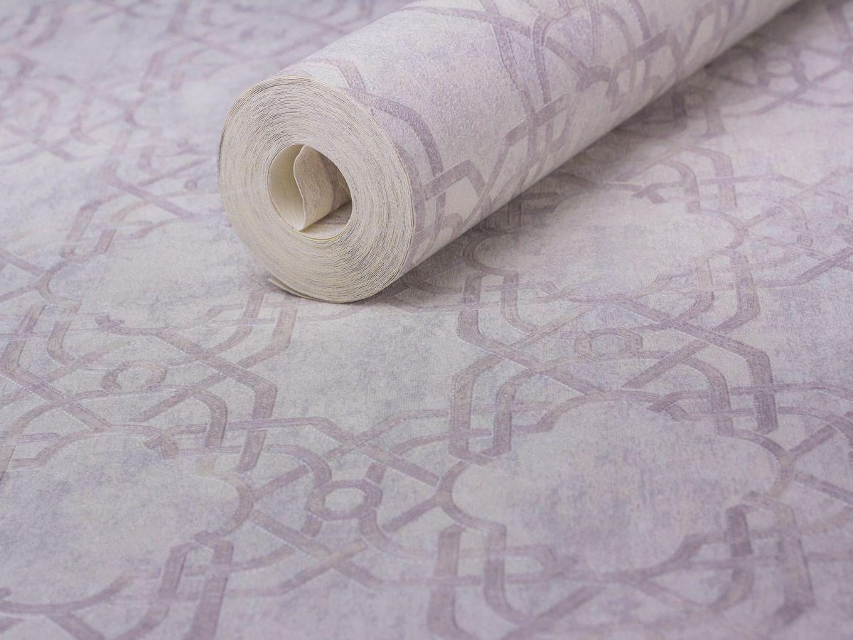 Papel De Parede Texturizado Geometrico Branco Gelo - 87033
