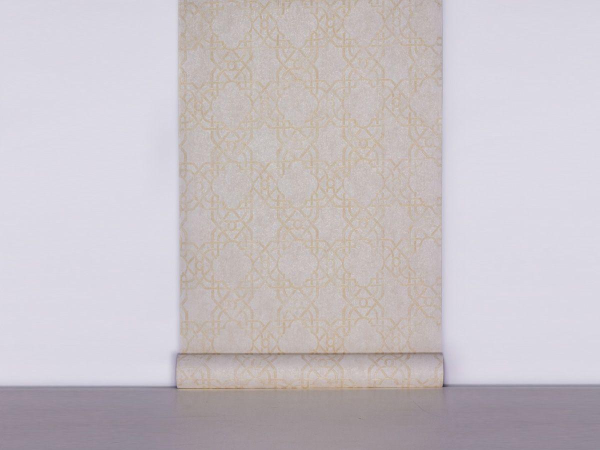 Papel De Parede Texturizado Geometrico Branco Perolado - 87032