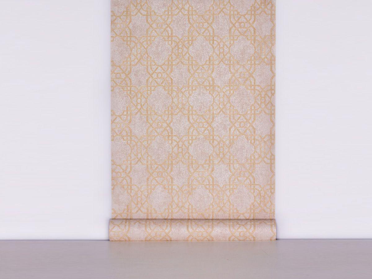 Papel De Parede Texturizado Geometrico Palha - 87036