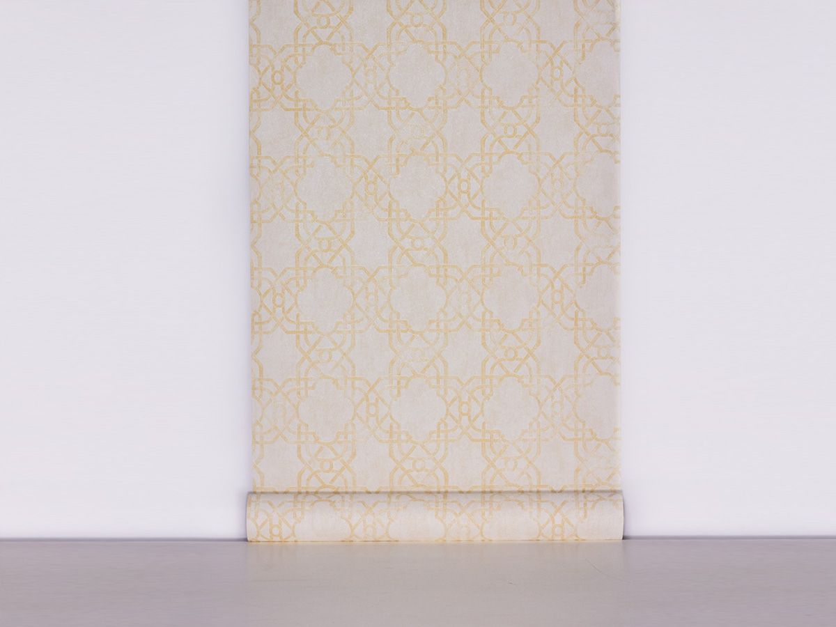 Papel De Parede Texturizado Geometrico Perola - 87031