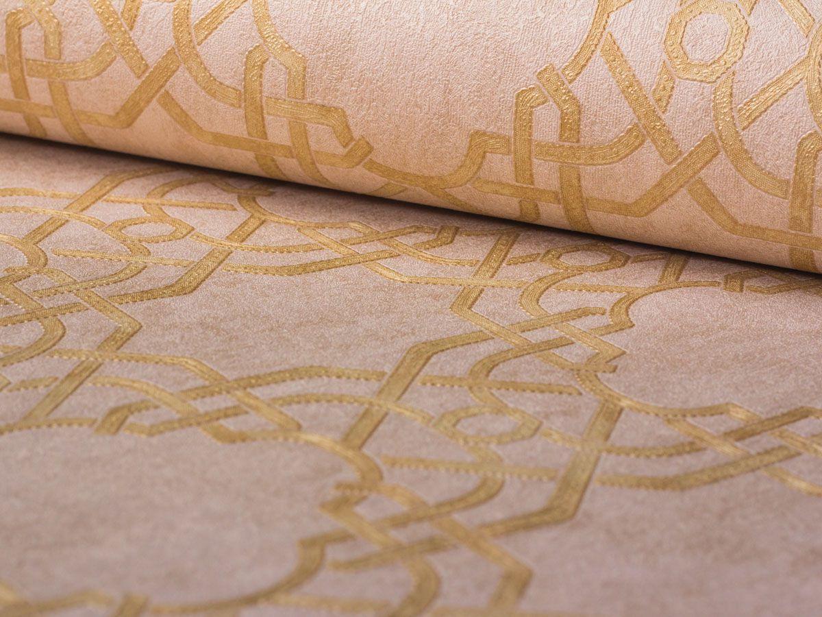 Papel De Parede Texturizado Geometrico Rose - 87034
